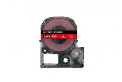 Epson LC-SD36RW, 36mm x 8m, bílý tisk / červený podklad, kompatibilní páska