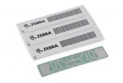 "Zebra 10027755 RFID Label, 45x13mm, Printable White PET, 3"" core, 800/roll,"