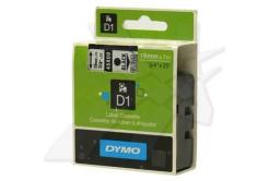 Dymo D1 45800, S0720820, 19mm x 7m, čierna tlač/priehľadný podklad, originálna páska