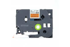 Kompatibilná páska s Brother TZ-B51/TZe-B51, signální 24mm x 8m, čierna tlač/oranžový podklad