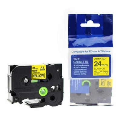 Kompatibilná páska s Brother TZ-S651/TZe-S651 24mm x 8m extr.adh. čierny tisk/žltý podklad