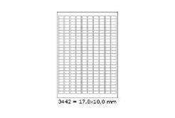 Samolepiace etikety 17,8 x 10 mm, 270 etikiet, A4, 100 listov