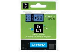 Dymo D1 40916, S0720710, 9mm x 7m čierna tlač / modrý podklad, originálna páska