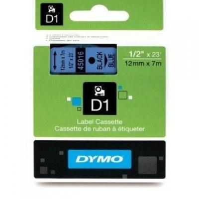Dymo D1 45016, S0720560, 12mm x 7m čierna tlač / modrý podklad, originálna páska