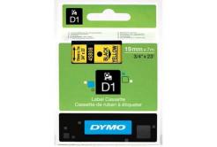 Dymo D1 45808, S0720880, 19mm x 7m, čierna tlač/žltý podklad, originálna páska