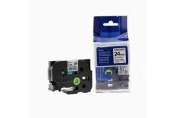 Kompatibilná páska s Brother TZ-S251/TZe-S251 24mm x 8m extr.adh. čierna tlač/biely podklad