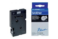 Brother TC-101, 12mm x 7,7m, čierna tlač / priehľadný podklad, originálna páska