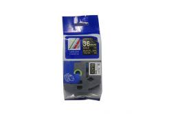 Kompatibilná páska s Brother TZ-364 / TZe-364, 36mm x 8m, zlatá tlač / čierny podklad