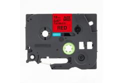 Kompatibilná páska s Brother TZ-FX435 / TZe-FX435, 12mm x 8m, flexi, biela tlač / červený podklad