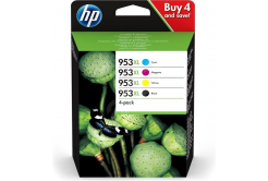 HP originálna cartridge multipack 3HZ51AE, HP 953XL, CMYK, 1600CMY-2000K str., HP