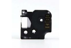 Kompatibilná páska s Dymo 45814, 19mm x 7m zlatá tlač / čierny podklad