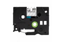 Kompatibilná páska s Brother TZ-S125 / TZe-S125, 9mm x 8m, extr.adh. bílý tisk / priehľadný podklad
