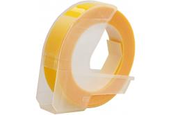 Dymo Omega, 9mm x 3m, biela tlač / žltý podklad, kompatibilná páska