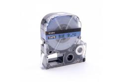 Epson LK-SC9BW, 9mm x 9m, černý tisk / modrý podklad, kompatibilní páska