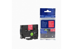 Kompatibilná páska s Brother TZ-435 / TZe-435, 12mm x 8m, biela tlač / červený podklad