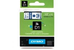 Dymo D1 45014, S0720540, 12mm x 7m modrá tlač / biely podklad, originálna páska