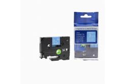 Kompatibilná páska s Brother TZ-525 / TZe-525, 9mm x 8m, biela tlač / modrý podklad