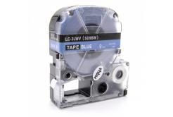 Epson LC-SD9BW, 9mm x 8m, bílý tisk / modrý podklad, kompatibilní páska
