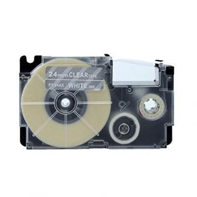 Kompatibilná páska s Casio XR-24AX 24mm x 8m biela tlač / priehľadný podklad