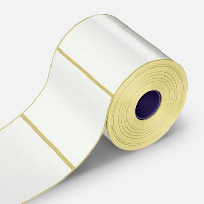 Samolepiace etikety 100x100 mm, 500 ks, papierové pre TTR, role