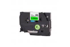 Kompatibilná páska s Brother TZ-D31/TZe-D31, signálne 12mm x 8m, čierna tlač/zelený podklad