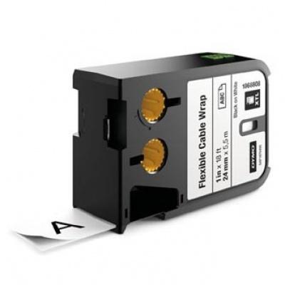 Dymo 1868808, 24mm x 5,5m, čierna tlač/biely podklad, originálna páska