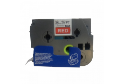 Kompatibilná páska s Brother TZ-465 / TZe-465, 36mm x 8m, biela tlač / červený podklad