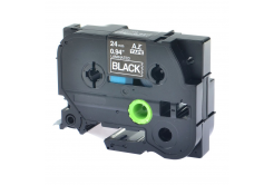 Kompatibilná páska s Brother TZ-S355/TZe-S355 24mm x 8m extr.adh. biela tlač/čierný podklad