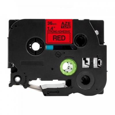 Kompatibilná páska s Brother TZ-S461 / TZe-S461, 36mm x 8m, extr.adh. čierna tlač / červený podklad