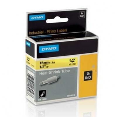 Dymo Rhino 18056, S0718310, 12mm x 1,5m čierna tlač / žltý podklad, originálná páska