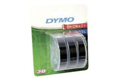 Dymo S0847730, 9mm x 3m biela tlač / čierný podklad, 3ks, originálna páska