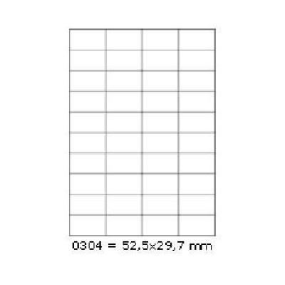 Samolepiace etikety 52,5 x 29,7 mm, 40 etikiet, A4, 100 listov