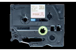 Brother TZ-RE34 / TZE-RE34, 12mm x 4m, zlatá tlač / ružový podklad, originálna páska
