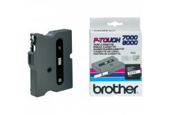 Brother TX-211, 6mm x 15m, čierna tlač/biely podklad, originálna páska
