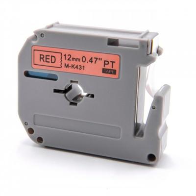 Brother MK-431, 12mm x 8m, černý tisk / červený podklad, kompatibilní páska