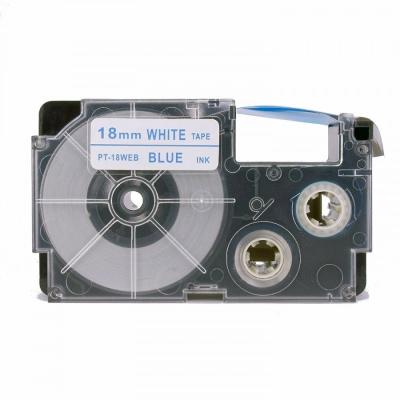Kompatibilná páska s Casio XR-18WEB 18mm x 8m modrá tlač / biely podklad