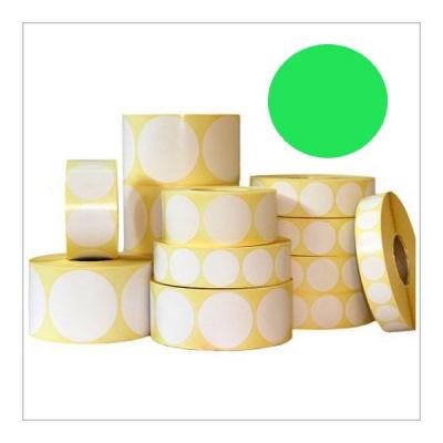 Samolepicí etikety kulaté 35 mm, 1000 ks, světle zelené papírové pro TTR, role