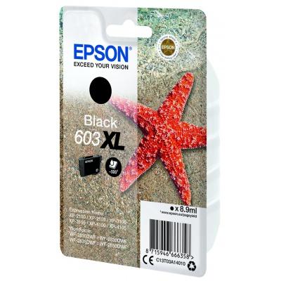 Epson originálna cartridge C13T03A14010, 603XL, black, 8.9ml, Epson Expression Home XP-2100, 2105, 3100, 3105, WF2810