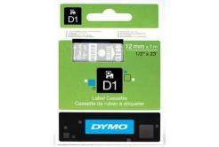 Dymo D1 45020, S0720600, 12mm x 7m biela tlač / priehľadný podklad, originálna páska