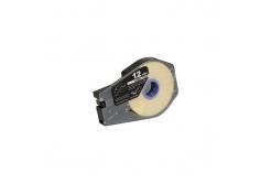 Kompatibilná samolepiaca páska pre Canon M-1 Std/M-1 Pro / Partex, 12mm x 30m, kazeta, biela