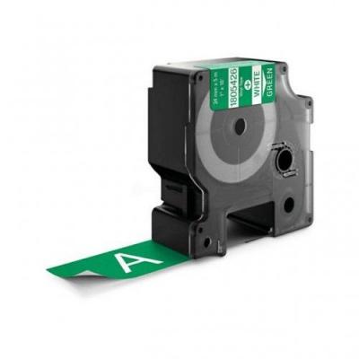 Kompatibilná páska s Dymo 1805426, Rhino, 24mm x 5,5m biela tlač / zelený podklad, vinyl