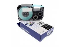 Kompatibilná páska s Casio XR-12SR1 12mm x 8m čierny tisk / strieborný podklad