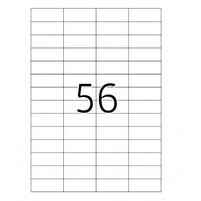 Samolepiace etikety 52,5 x 21,2 mm, 56 etikiet, A4, 100 listov