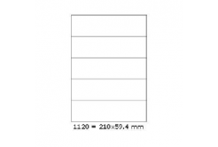 Samolepiace etikety 210 x 59,4 mm, 5 etikiet, A4, 100 listov