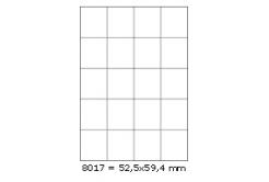 Samolepiace etikety 52,5 x 59,4 mm, 20 etikiet, A4, 100 listov