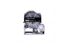 Epson LC-SD18KW, 18mm x 8m, bílý tisk / černý podklad, kompatibilní páska