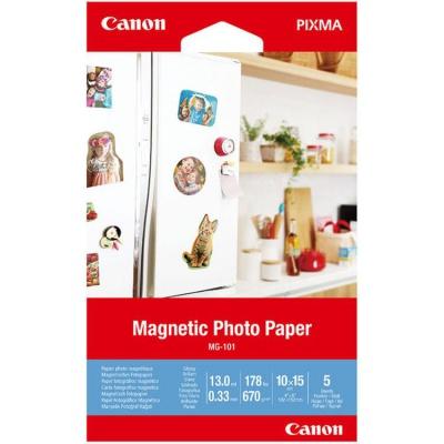 """Canon Magnetic Photo Paper, foto papír, lesklý, bílý, Canon PIXMA, 10x15cm, 4x6"""", 670 g/m2, 5 ks, 3634C002, nespecifikováno"""