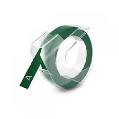 Kompatibilná páska s Dymo S0898160, 9mm x 3m, biela tlač / zelený podklad