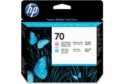 HP č.70 C9405A svetle azúrová/svetle purpurová (light cyan/light magenta) originálna tlačová hlava