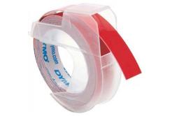 Dymo S0898150, 9mm x 3m, bílý tisk/červený podklad, originální páska